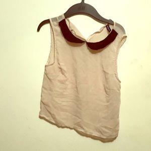 Lace collar shirt